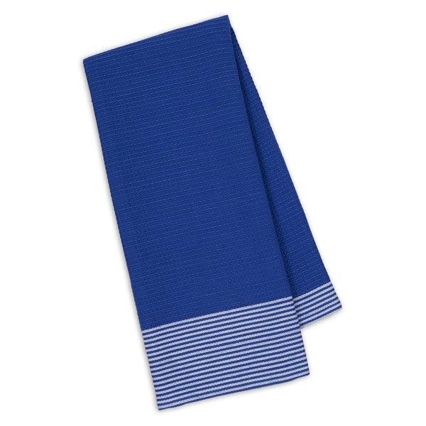 Blueberry Waffle & Stripe Dishtowel - DII Design Imports
