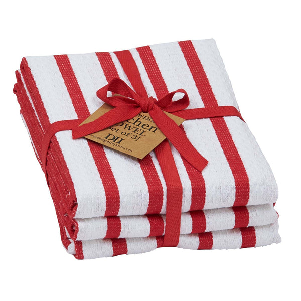 Tango Stripe Heavyweight Dishtowel Set of 3 - DII Design Imports