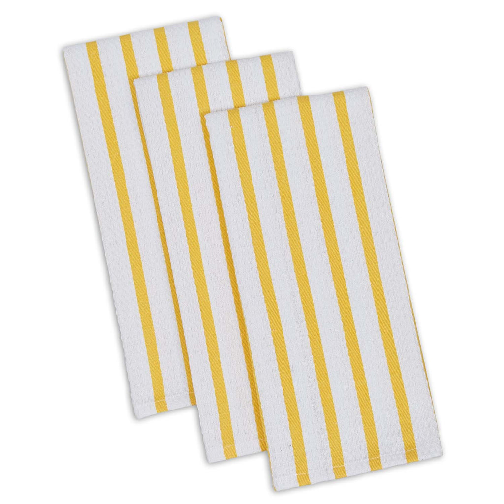 Wholesale Daffodil Stripe Heavyweight Dishtowel Set of 3 - DII Design Imports