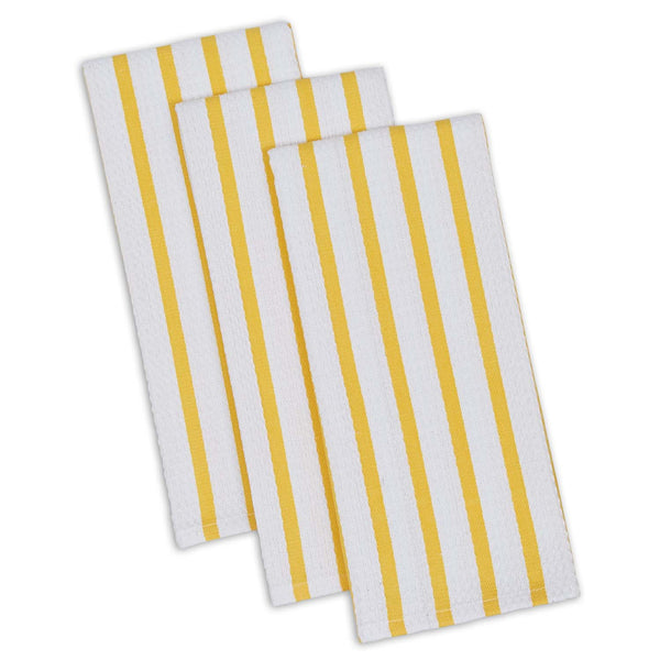Daffodil Stripe Heavyweight Dishtowel Set of 3 - DII Design Imports
