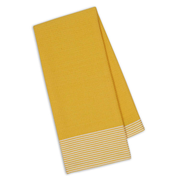 Wholesale - Daffodil Waffle & Stripe Dishtowel - DII Design Imports