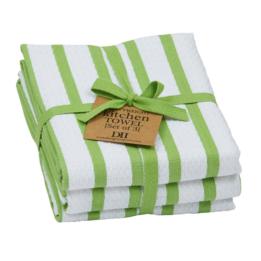Wholesale Lime Zest Heavyweight Dishtowel Set of 3 - DII Design Imports