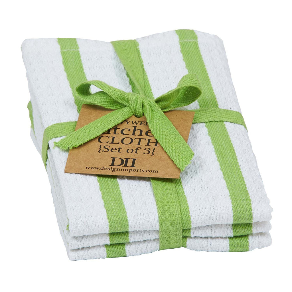Wholesale Lime Zest Heavyweight Dishcloth Set of 3 - DII Design Imports