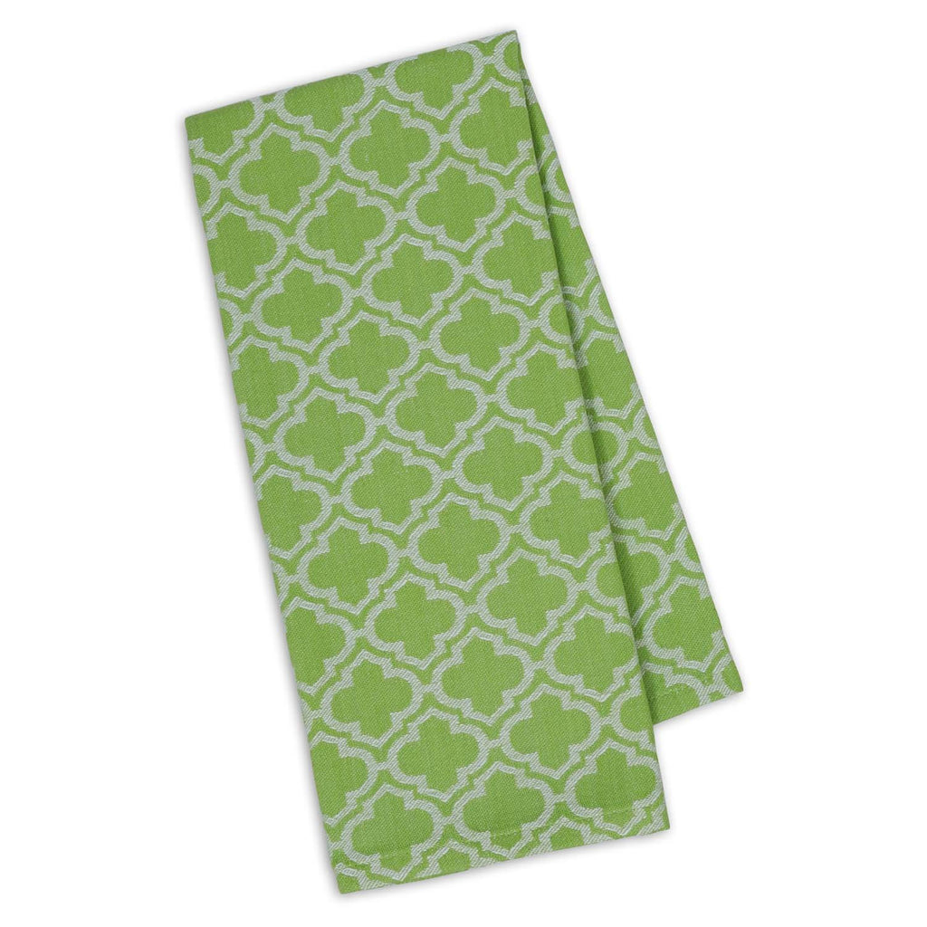 Lime Zest Lattice Jacquard Dishtowel - DII Design Imports