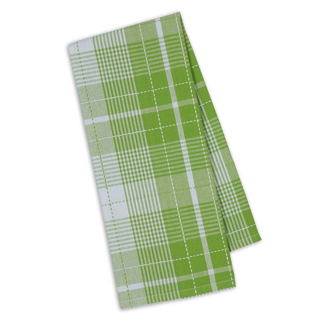Lime Zest Garden Plaid Dishtowel - DII Design Imports