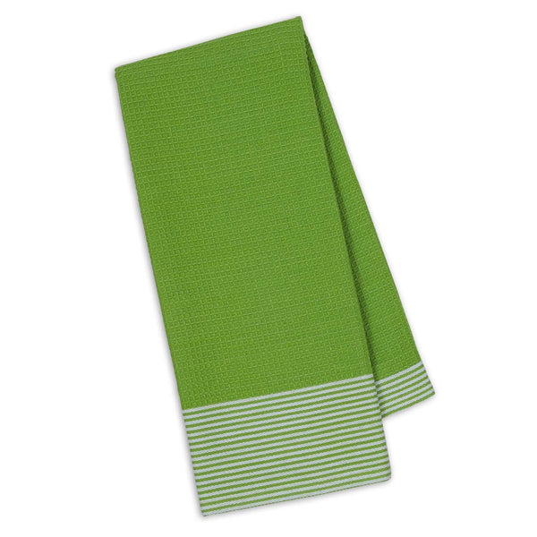 Wholesale - Lime Zest Waffle & Stripe Dishtowel - DII Design Imports