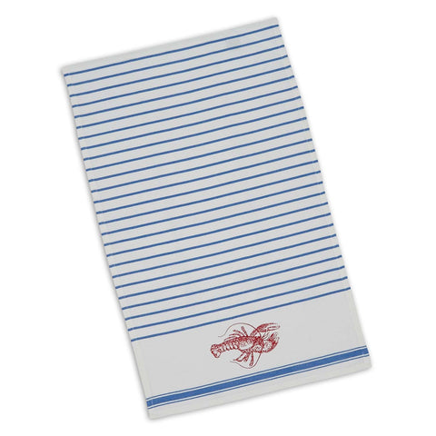 Wholesale - Lobster Stripe Printed Dishtowel - DII Design Imports - 1