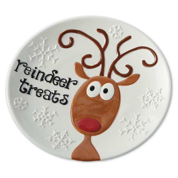 """Reindeer Treats"" Plate - DII Design Imports"