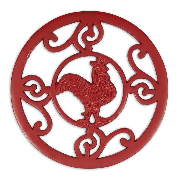 Red Rooster Scroll Trivet - DII Design Imports