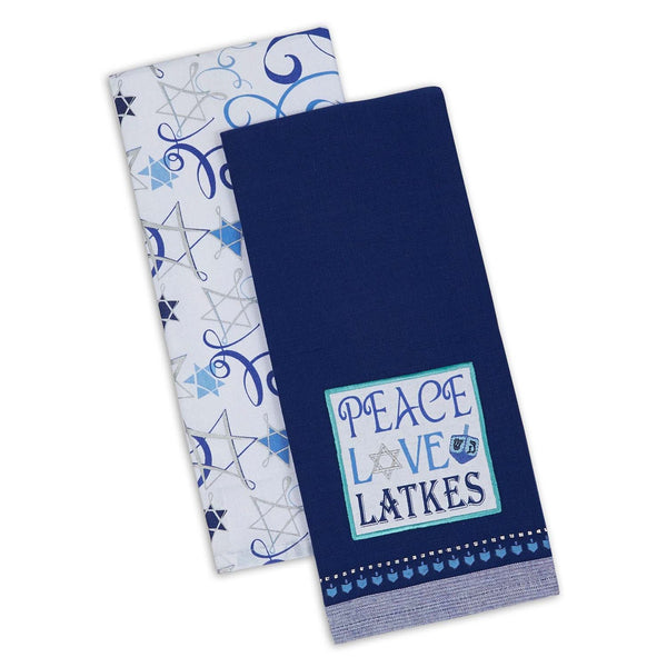 Peace Love Latkes Dishtowel Set of 2