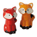 Foxes Ceramic Salt & Pepper Shakers - DII Design Imports