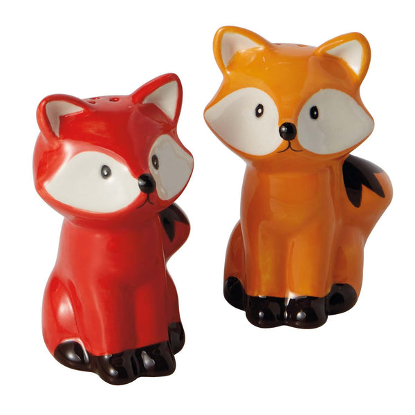 Wholesale - Foxes Ceramic Salt & Pepper Shakers - DII Design Imports - 1