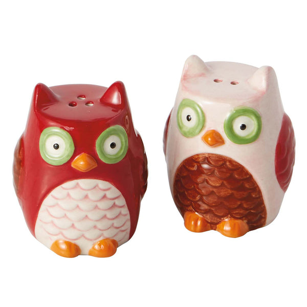 Owls Ceramic Salt & Pepper Shakers - DII Design Imports