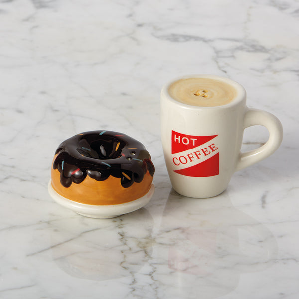 Wholesale - Coffee & Doughnut Ceramic Salt & Pepper Shakers - DII Design Imports