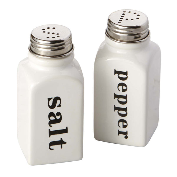 Wholesale - White Ceramic Salt & Pepper Shakers - DII Design Imports - 1