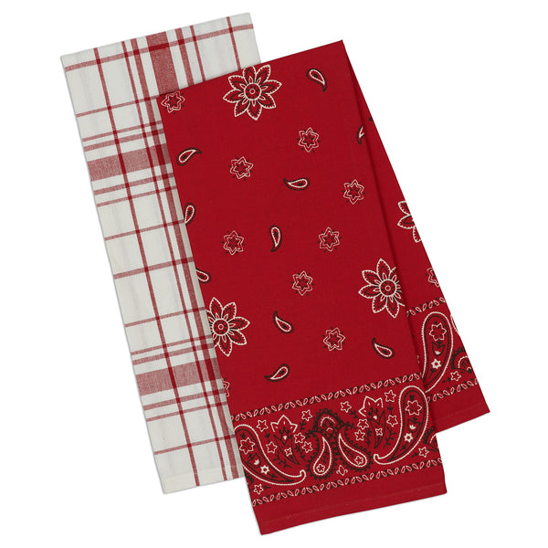 Bandana Dishtowel Set of 2 - DII Design Imports