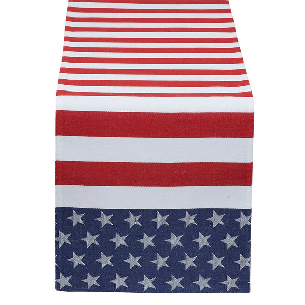 Wholesale - Stars & Stripes Jacquard Table Runner - DII Design Imports - 1