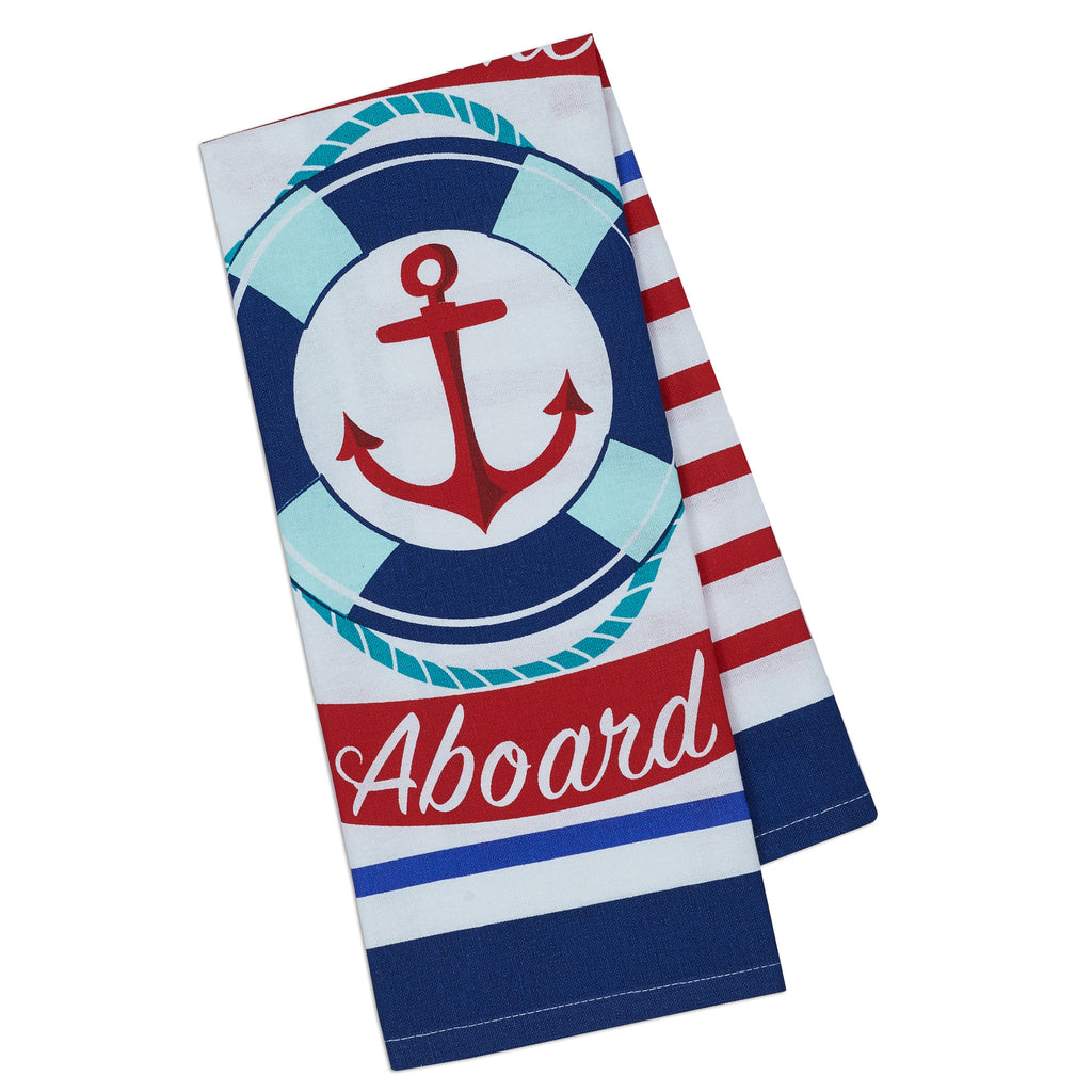 Welcome Aboard Printed Dishtowel - DII Design Imports