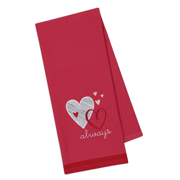 Wholesale - Love Always Embellished Dishtowel - DII Design Imports - 1