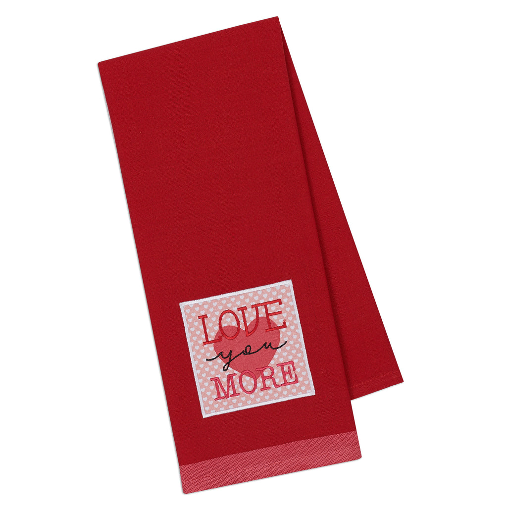 Love You More Embellished Dishtowel - DII Design Imports