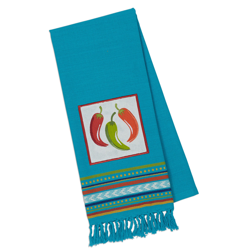 Chili Peppers Embellished Dishtowel - DII Design Imports