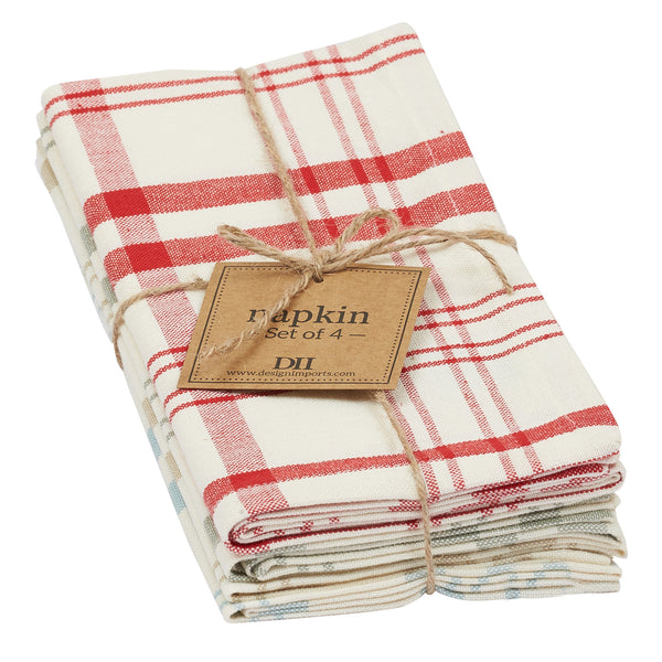 Wholesale - Market Plaid Napkin Set of 4 - DII Design Imports - 1