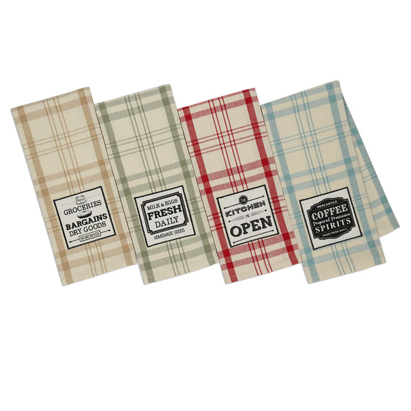 Mercantile Embellished Dishtowels - DII Design Imports