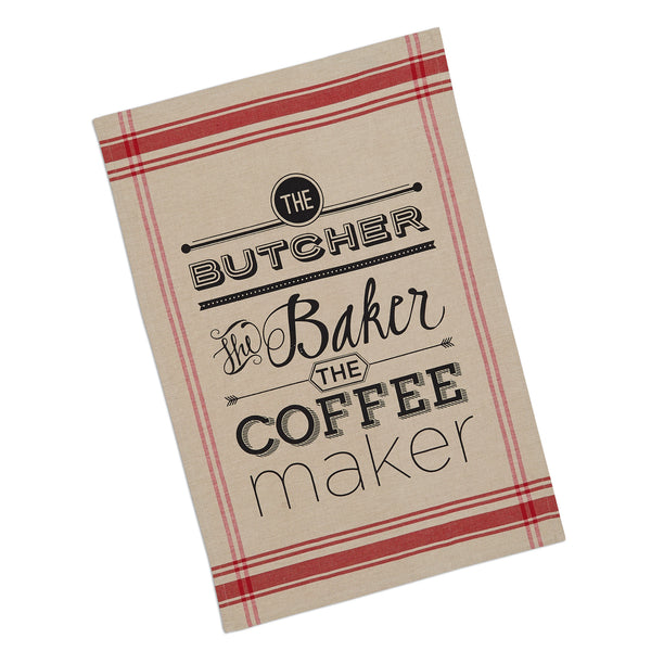 Wholesale - Butcher Baker Printed Dishtowel - DII Design Imports - 1