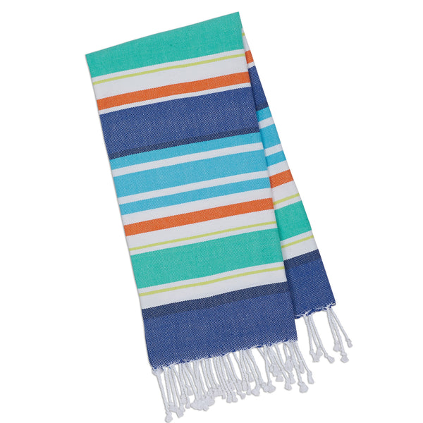 Wholesale - Beachy Blue Stripes Fouta Towel - Small - DII Design Imports - 1