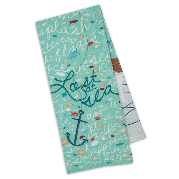 Lost at Sea Embellished Dishtowel - DII Design Imports