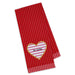 Be Mine Heart Embellished Dishtowel - DII Design Imports
