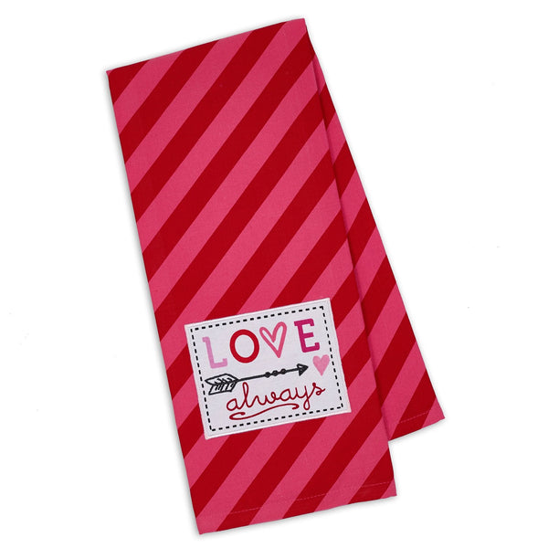 Wholesale Love Always Embellished Dishtowel - DII Design Imports