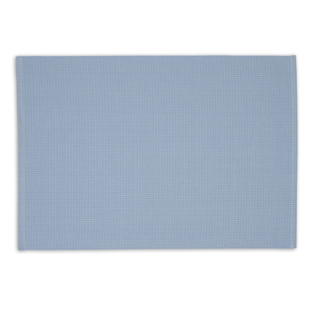 Icy Blue Dobby Dots Placemat