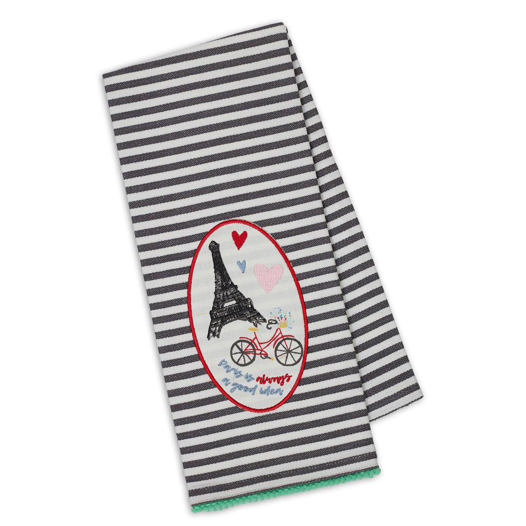 Wholesale Eiffel Tower Embellished Dishtowel - DII Design Imports