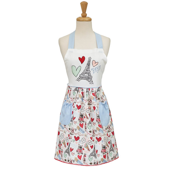 Wholesale I Love Paris Printed Apron - DII Design Imports