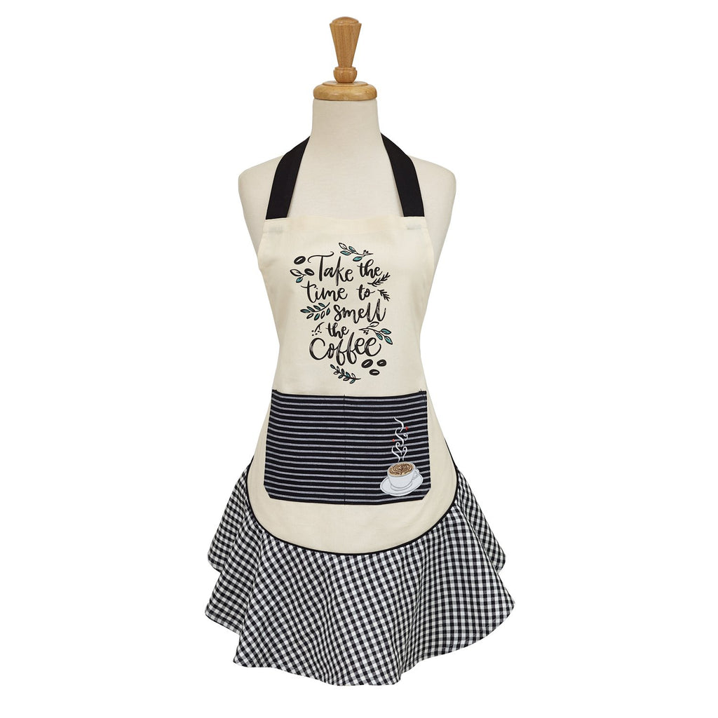 Coffee Time Embellished Apron - DII Design Imports