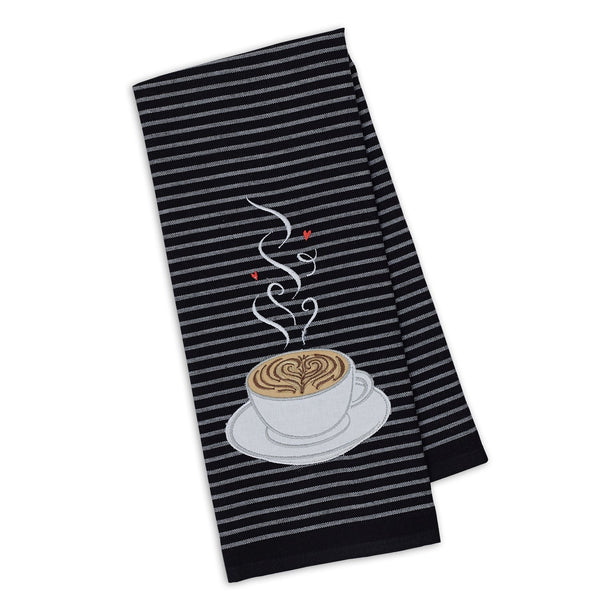 Cup O' Joe Embellished Dishtowel