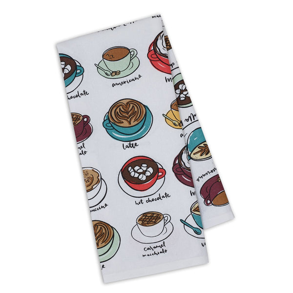 Coffee Cups Printed Dishtowel - DII Design Imports
