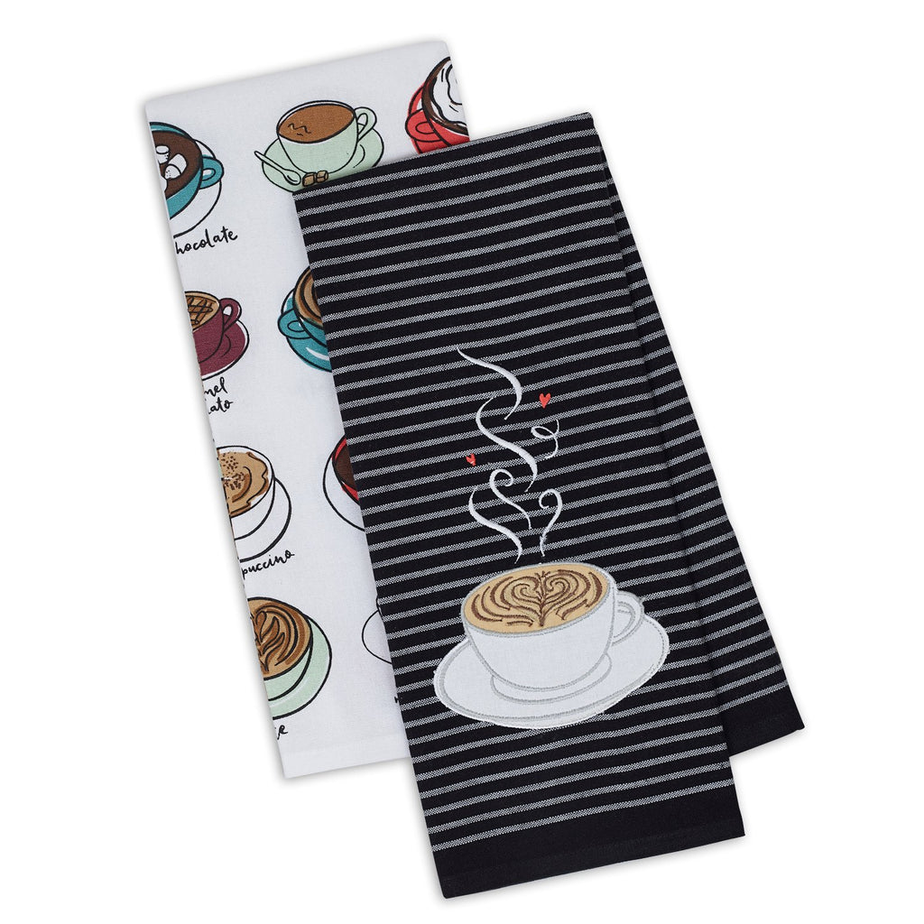 Wholesale Cup of Coffee Dishtowel Set of 2 - DII Design Imports