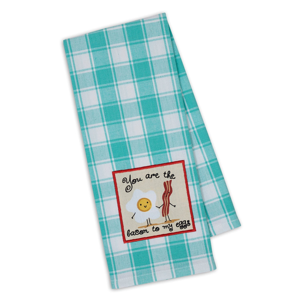 Bacon to My Eggs Embellished Dishtowel - DII Design Imports