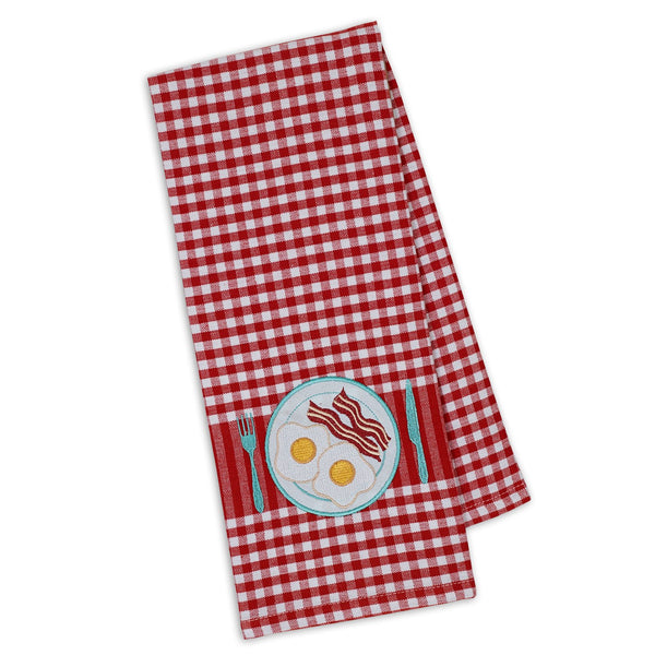 Wholesale Bacon & Eggs Embellished Dishtowel - DII Design Imports