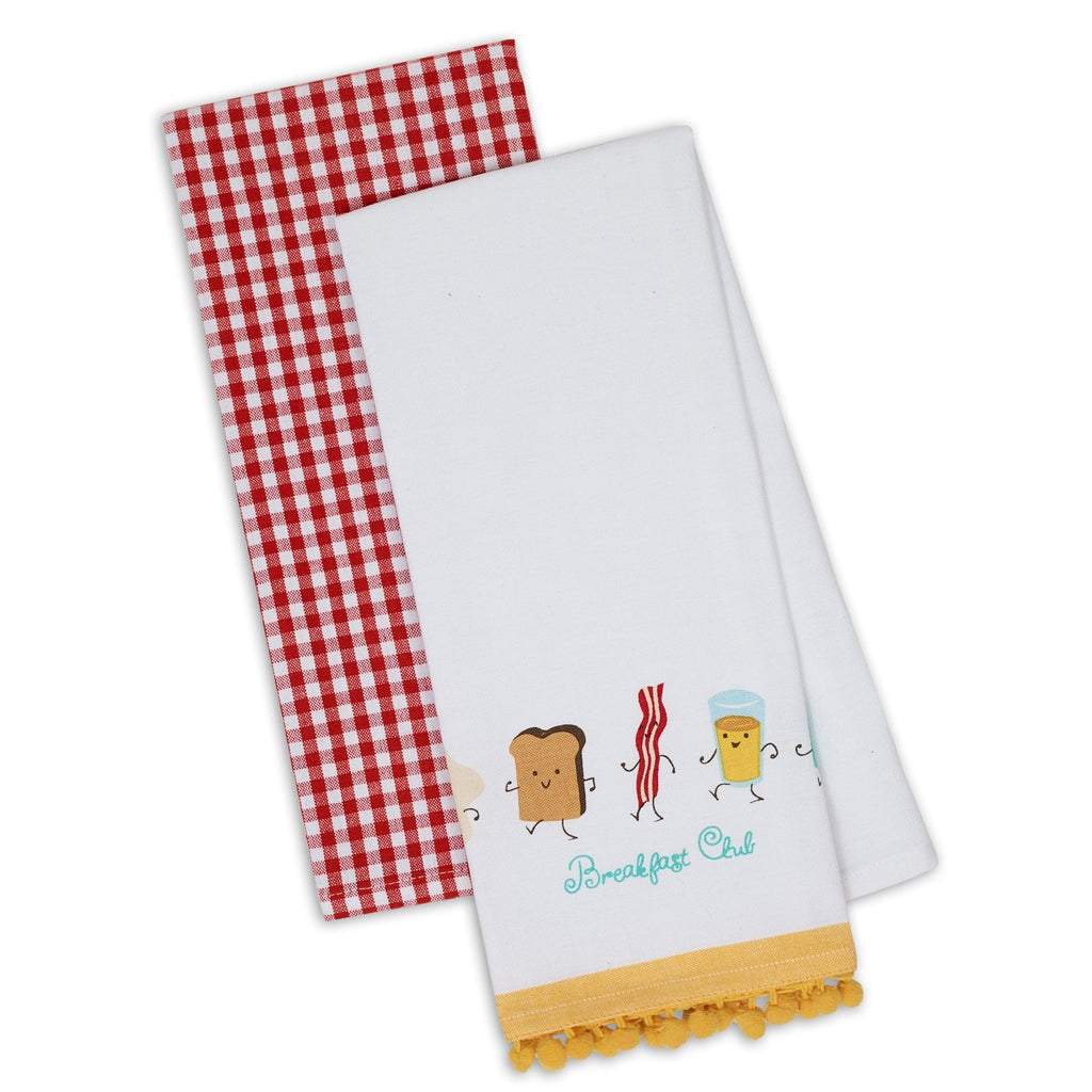 Wholesale Breakfast Club Dishtowel Set of 2 - DII Design Imports