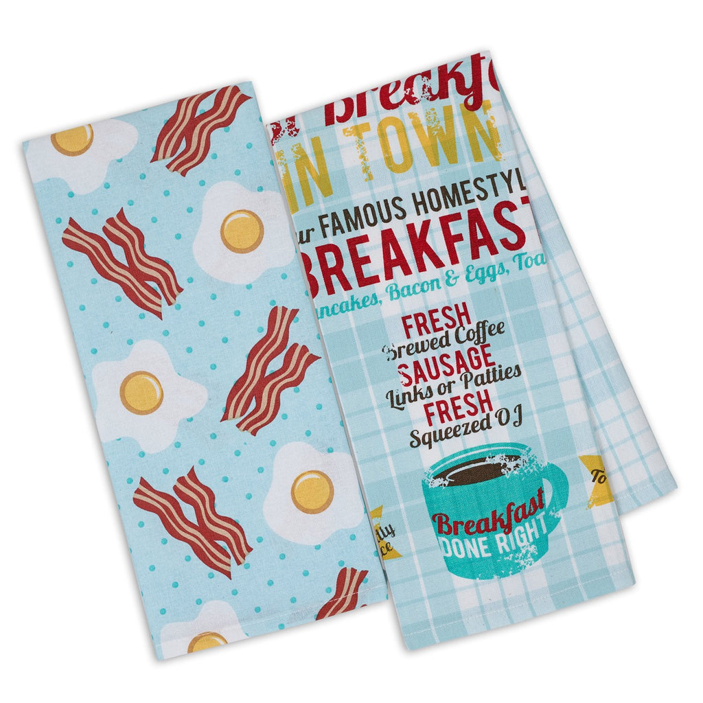 Wholesale Breakfast Dishtowel Mixed Dozen - DII Design Imports