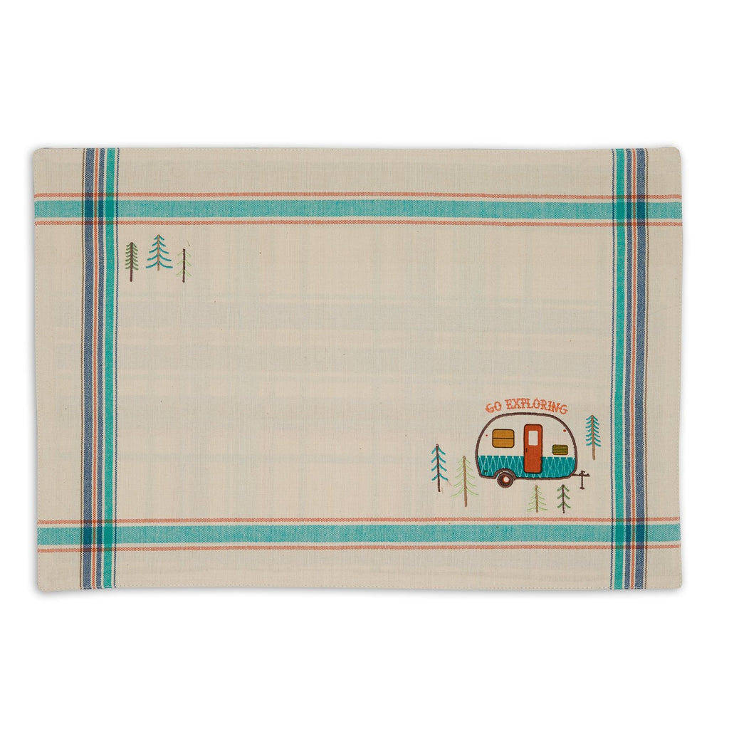 Wholesale Camper Embellished Placemats Mixed Dozen - DII Design Imports