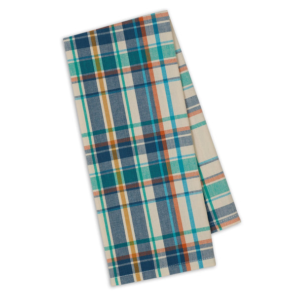 Happy Camper Plaid Dishtowel