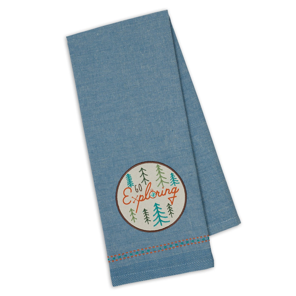Wholesale Go Exploring Embellished Dishtowel - DII Design Imports