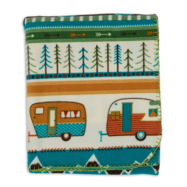 Wholesale Happy Camper Fleece Throw - DII Design Imports