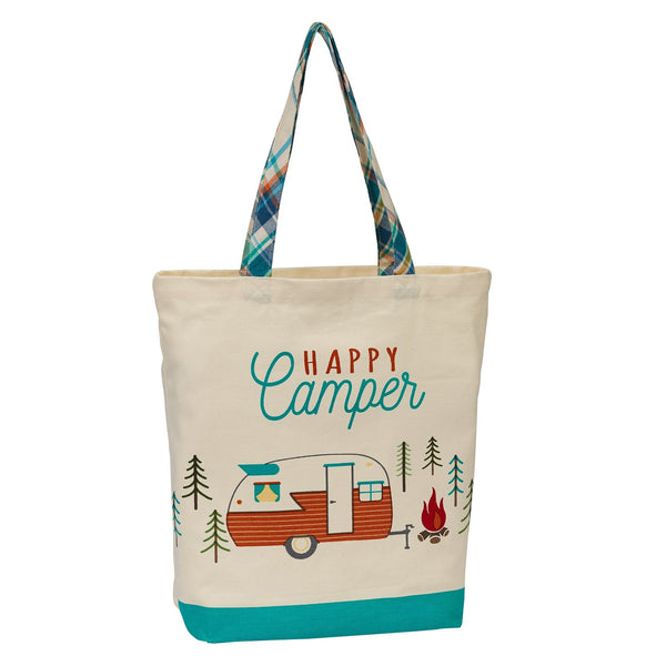 Wholesale Happy Camper Print Tote - DII Design Imports