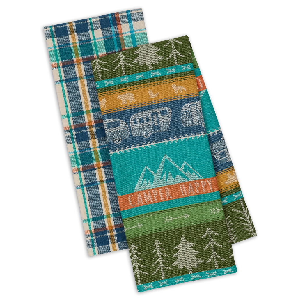 Happy Camper Dishtowel Set of 2 - DII Design Imports