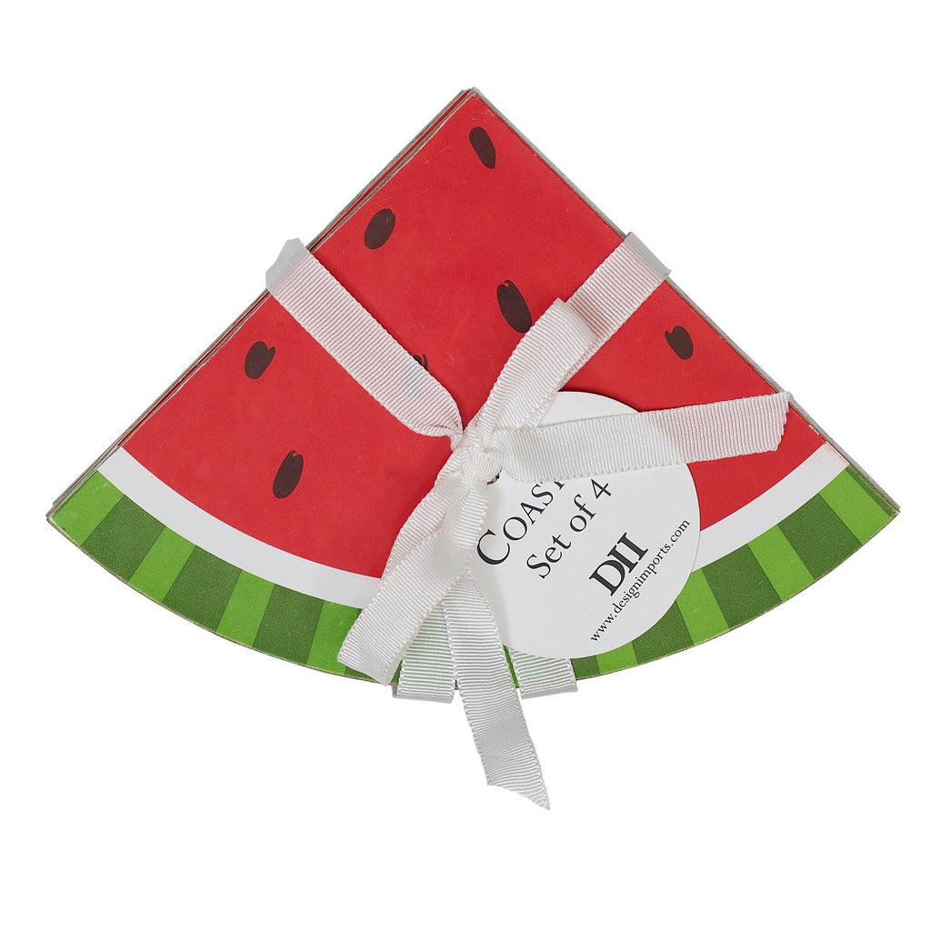 Watermelon Slices Printed Coasters - DII Design Imports